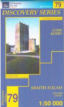 Cork e Kerry contee - Derrynasaggart Mountains f.79 1:50.000
