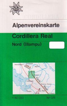 Cordillera Real Nord - Illampu 1:50.000