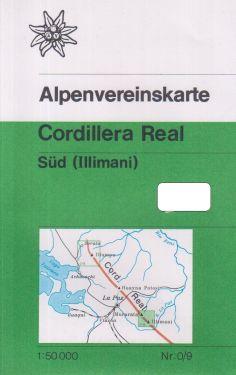 Cordillera Real Sud - Illimani 1:50.000