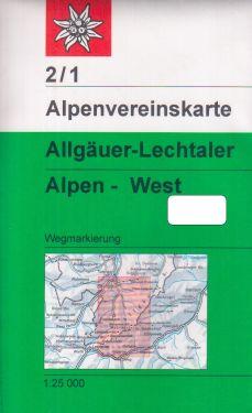 Allgauer-Lechtaler Alpen West 1:25.000