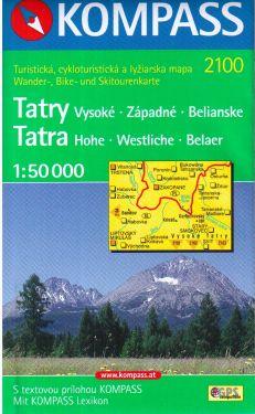 Tatra Hohe, Westliche, Belaer 1:50.000