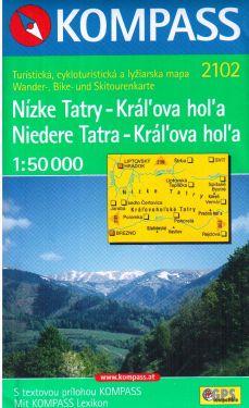 Niedere Tatra, Kral'ova hol'a 1:50.000