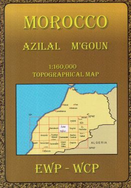 Azilal, M'Goun 1:160.000