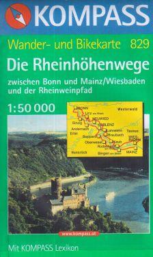Die Rheinhöhenwege 1:50.000