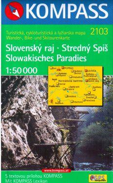 Slovensky raj, Stredny Spis, Slowakisches Paradies 1:50.000