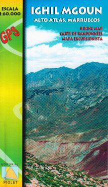 Ighil Mgoun - Alto Atlas 1:60.000