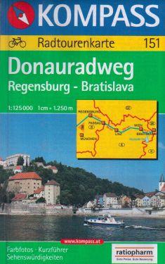 Donauradweg Regensburg - Bratislava 1:125.000