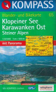 Klopeiner See, Karawanken Ost 1:50.000