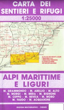 Alpi Marittime e Liguri, Ventimiglia, Sanremo, Imperia 1:25.000
