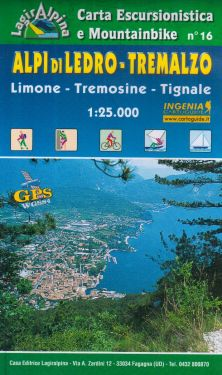 Alpi di Ledro - Tremalzo f.16 1:25.000