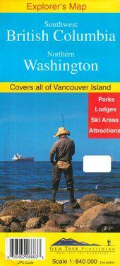 Southwest British Columbia, Northern Washington 1:840.000