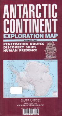 Antartic Continent exploration map 1:6.800.000