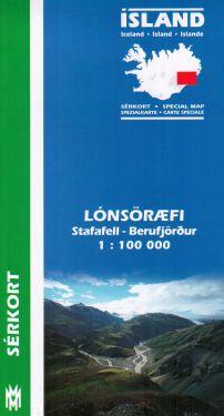 Lónsöræfi, Stafafell, Berufjörður f.6 1:100.000