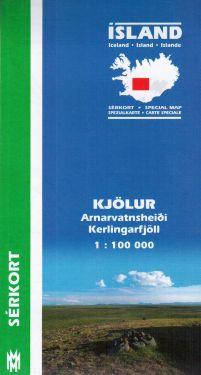 Kjölur, Arnarvatnsheiði, Kerlingarfjöll f.3 1:100.000