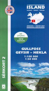Gullfoss, Geysir, Hekla f.2 1:100.000