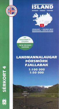 Landmannlaugar, Pórsmörk, Fjallabak f.4 1:100.000