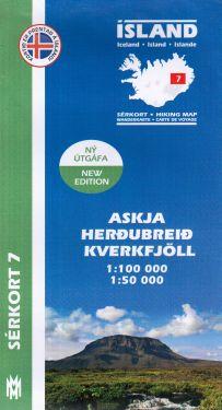 Askja, Herdubreid, Kverkfjöll f.7 1:100.000