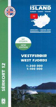 Vestfirdir (West Fjords) f.12 1:200.000
