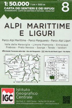 Alpi Marittime e Liguri 1:50.000