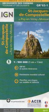 Santiago de Compostela GR65-1 - Le Puy-en-Velay to Moissac 1:100.000