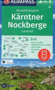 Biosphärenpark Kärnten Nockberge, Liesertal 1:50.000