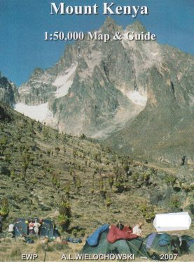 Mount Kenya map and guide 1:50.000