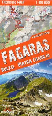 Fagaras, Bucegi, Piatra Craiului 1:80.000