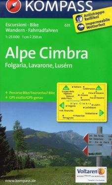 Alpe Cimbra, Folgaria, Lavarone e Luserna 1:25.000