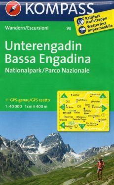 Bassa Engadina - Unterengadin 1:40.000