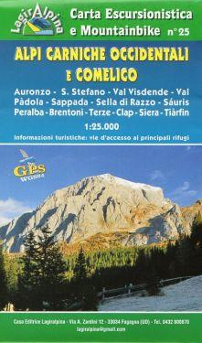 Alpi Carniche Occidentali e Comelico f.25 1:25.000