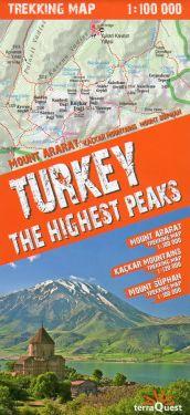 Turkey the highest peaks 1:100.000