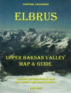 Elbrus Upper Baksan Valley 1:50.000
