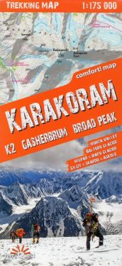 Karakoram, K2, Gasherbrum, Broad Peak 1:175.000