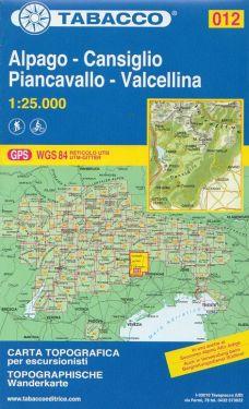 Alpago, Cansiglio, Piancavallo, Valcellina 1:25.000