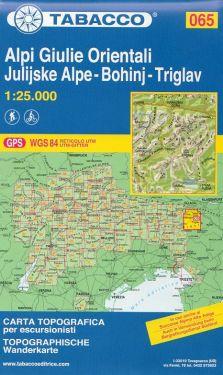 Alpi Giulie Orientali, Julijske Alpe, Bohinj, Triglav 1:25.000