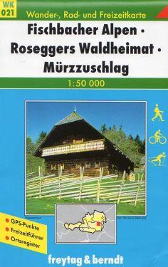 Fischbacher Alpen, Roseggers Waldheimat, Murzzuschlag 1:50.000