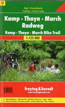 Kamp - Thaya - March Radweg 1:125.000