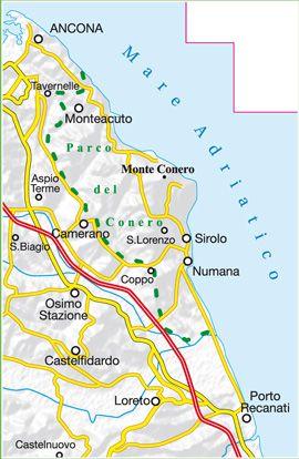 Cartina Conero Marche.Parco Naturale Regionale Del Conero 1 25 000 6