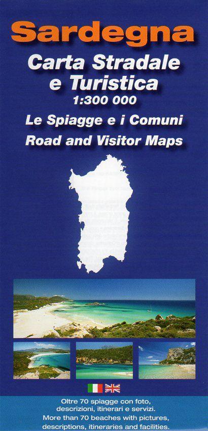 Spiagge Sardegna Cartina.Cartina Stradale E Turistica Della Sardegna 1 300 000