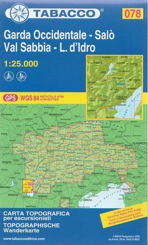Cartina Topografica Lago Di Garda.Garda Occidentale Salo Val Sabbia Lago D Idro 1 25 000