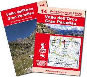 14 - Valle dell'Orco, Gran Paradiso carta dei sentieri 1:25.000 ANTISTRAPPO 2018 con guida