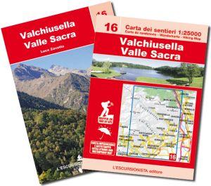 16 - Valchiusella, Valle Sacra carta dei sentieri 1:25.000 ANTISTRAPPO 2018 con guida
