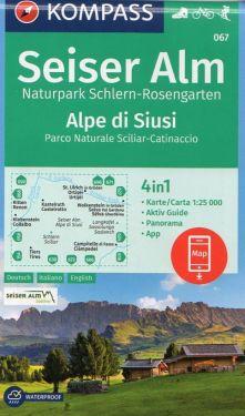 Alpe di Siusi, Parco Naturale Sciliar-Catinaccio 1:25.000