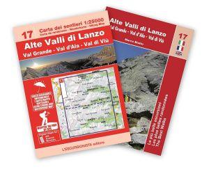 17 - Alte Valli di Lanzo, Val Grande, Val d'Ala, Val di Viù carta dei sentieri 1:25.000 ANTISTRAPPO 2020 con guida