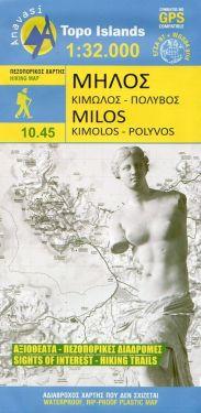 Milos, Kimolos, Polyvos 1:32.000