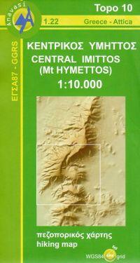 Central Imittos - Mount Hymettos 1:10.000