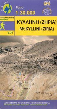 Mount Kyllini (Ziria) – Monte Cillene 1:30.000