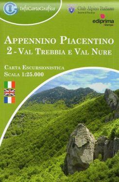 Appennino Piacentino 2 - Val Trebbia e Val Nure 1:25.000