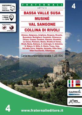 Bassa Valle di Susa, Musinè, Val Sangone, Collina di Rivoli 1:25.000 f.4