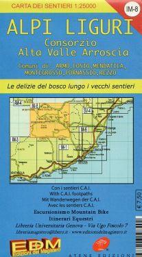 Alpi Liguri - Consorzio Alta Valle Arroscia f.IM8 1:25.000